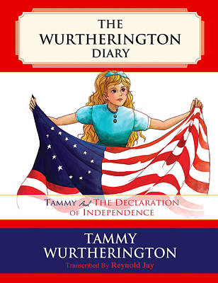 July 4 Painting - Tammy And The Declaration Of Independence by Reynold Jay