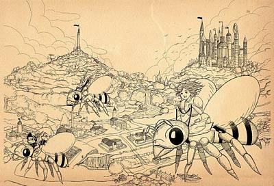 Drawing - Flight Over Capira by Reynold Jay