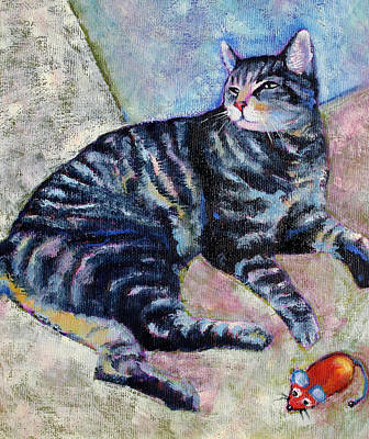 Tammy The Tabby Cat Art Print