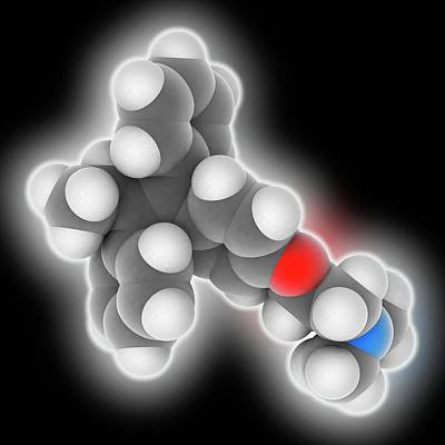 Tamoxifen Drug Molecule Art Print