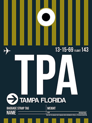 Capital Cities Digital Art - Tampa Airport Poster 1 by Naxart Studio