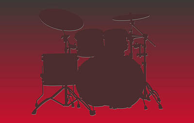 Tampa Bay Buccaneers Drum Set Art Print