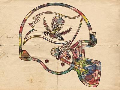 Painting - Tampa Bay Buccaneers Helmet Art by Florian Rodarte
