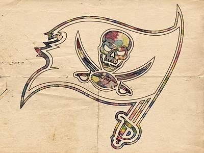 Painting - Tampa Bay Buccaneers Poster Art by Florian Rodarte