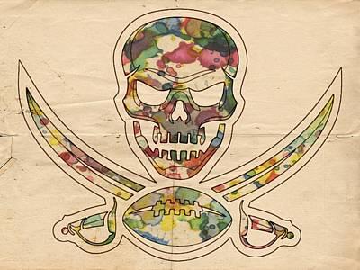 Painting - Tampa Bay Buccaneers Poster Vintage by Florian Rodarte
