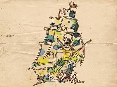 Painting - Tampa Bay Buccaneers Vintage Art by Florian Rodarte