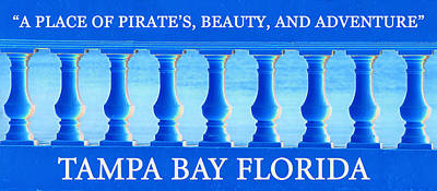 Tampa Bay Florida Posterart Work A Art Print by David Lee Thompson