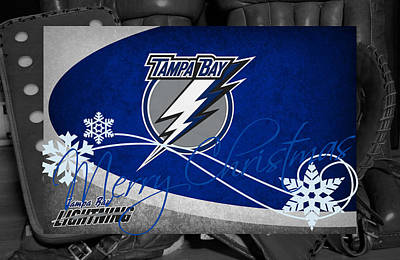 Skating Photograph - Tampa Bay Lightning Christmas by Joe Hamilton