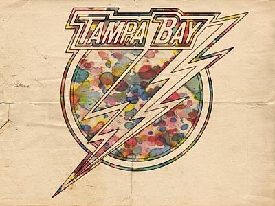 Painting - Tampa Bay Lightning Hockey Poster by Florian Rodarte