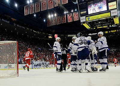 Photograph - Tampa Bay Lightning V Detroit Red Wings by Gregory Shamus