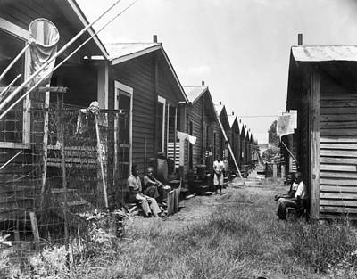 Tampa Bay Poverty Housing Art Print by Underwood Archives