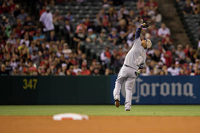 Photograph - Tampa Bay Rays V Los Angeles Angels Of by Paul Spinelli