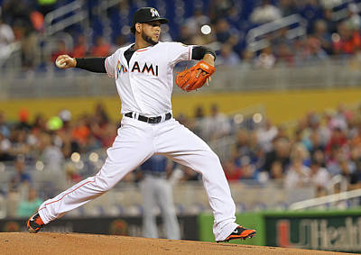 Photograph - Tampa Bay Rays V Miami Marlins by Mike Ehrmann