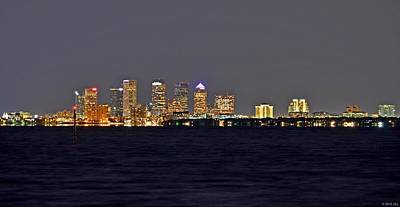 Photograph - Tampa City Skyline At Night 7 November 2012 by Jeff at JSJ Photography