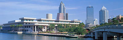 Convention Centers Photograph - Tampa Convention Center, Skyline by Panoramic Images