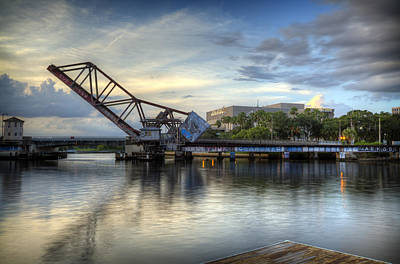 Photograph - Tampa Drawbridge by Al Hurley