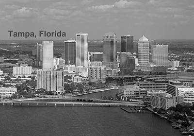 Tampa Photograph - Tampa Florida Downtown Skyline by John Black