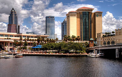 Print featuring the photograph Tampa by Jim Hill