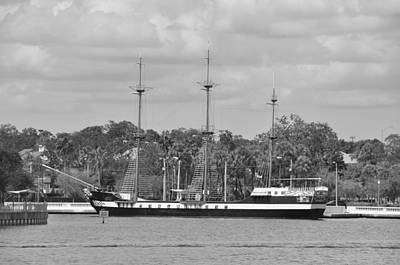 Photograph - Tampa - Jose Gaspar Pirate Ship by John Black