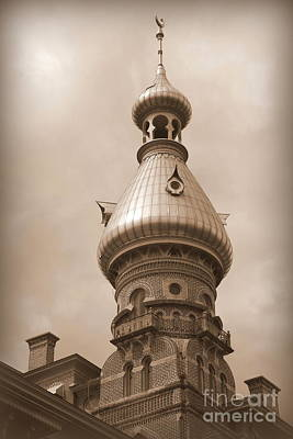 Photograph - Tampa Minaret - Sepia by Carol Groenen
