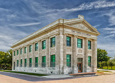 Photograph - Tampa Port Library by Frank J Benz