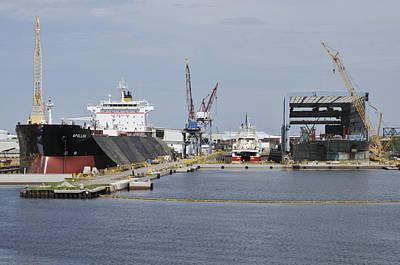 Photograph - Tampa Shipyard by Bradford Martin