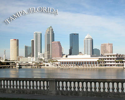 Photograph - Tampa Skyline by Aileen Mayer
