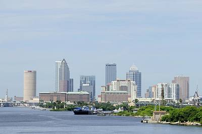 Photograph - Tampa Skyline From The Bay. by Bradford Martin