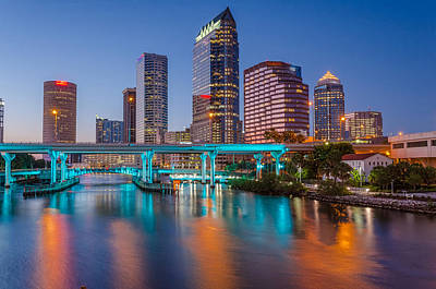 Tampa Skylines Art Print by RC Pics