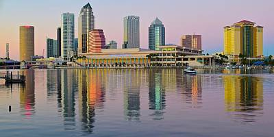 Photograph - Tampa Sunset Panorama by Frozen in Time Fine Art Photography