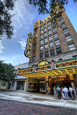 Vintage River Scenes Photograph - Tampa Theater 2 by Al Hurley