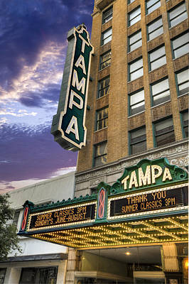 Photograph - Tampa Theater by Al Hurley