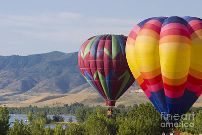 Steve Krull Royalty-Free and Rights-Managed Images - Tandem Balloons by Steve Krull