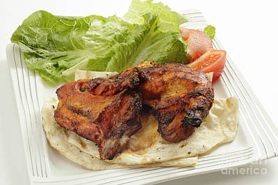 Photograph - Tandoori Chicken High Angle by Paul Cowan