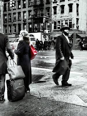 Tangents - A Walk In The City Art Print by Miriam Danar