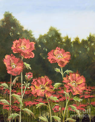 Painting - Macro Poppies I by Vic  Mastis