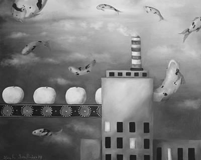 Tangerine Painting - Tangerine Dream Edit 4 by Leah Saulnier The Painting Maniac