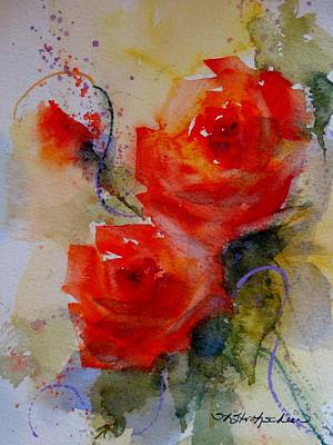 Painting - Tangerine Roses by Sandra Strohschein