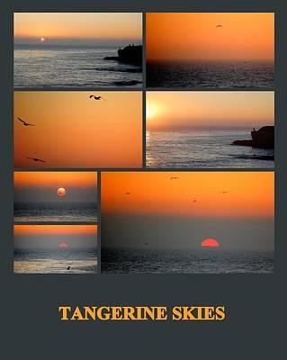 Photograph - Tangerine Skies by AJ  Schibig