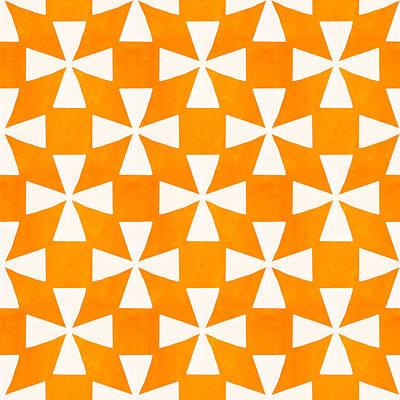 Cantaloupe Mixed Media - Tangerine Twirl by Linda Woods