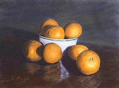 Painting - Tangerines by Alan Mager