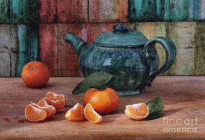 Tangerines Print by Luv Photography