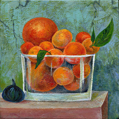 Tangerine Painting - Tangerines by Marianna Tankelevich