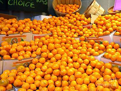 Photograph - Tangerines by Merton Allen