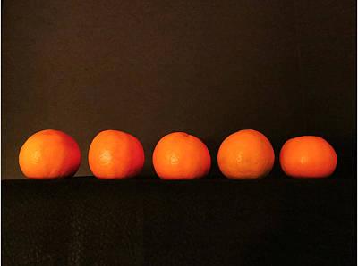 Photograph - Tangerines by Patricia Januszkiewicz