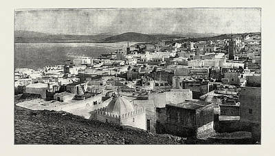 Tangier Drawing - Tangier From The Kesba, Tangier, Morocco by Litz Collection