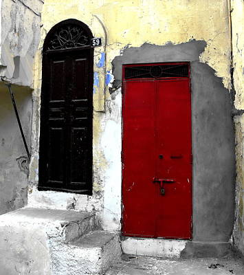 Photograph - Tangier Morocco - Neighbors by Jacqueline M Lewis