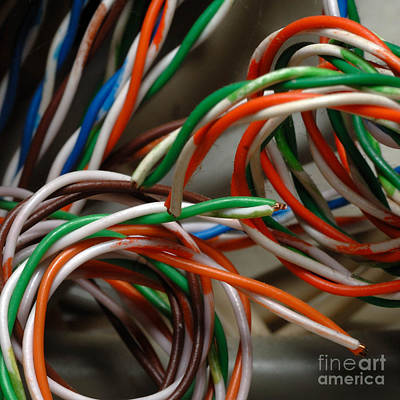 Wire Photograph - Tangle Of Colorful Wires by Amy Cicconi
