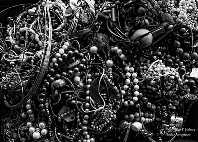 Photograph - Tangled Baubles - Bw by Christopher Holmes