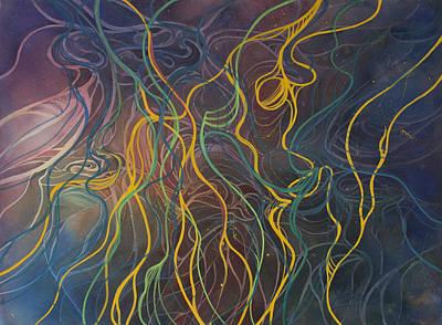 Tangled Boats  Art Print by Johanna Axelrod